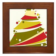 Festive Christmas Tree Framed Tile