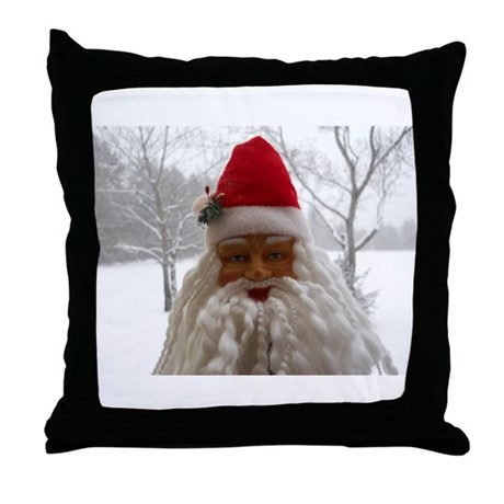 Santa In The Snow Throw Pillow