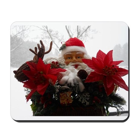 Santa Snow Display Mousepad