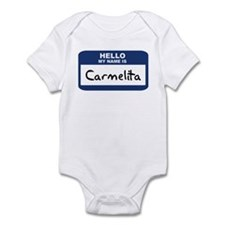 Hello: Carmelita Infant Bodysuit