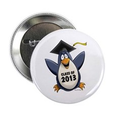"2013 Graduate Penguin 2.25"" Button"