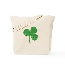 Distressed Vintage Clover St Patricks Day Tote Bag