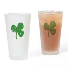 Distressed Vintage Clover St Patricks Day Drinking