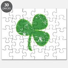 Distressed Vintage Clover St Patricks Day Puzzle