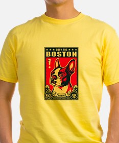 Obey the Boston Terrier! USA T-Shirt