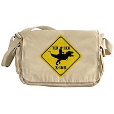 Cowboy On T-Rex - Tex Rex X-ING Sign Messenger Bag