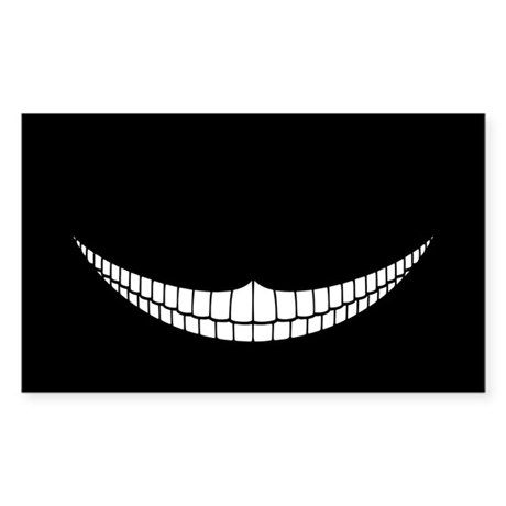 Cheshire Grin Rectangle Sticker