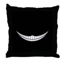 Cheshire Grin Throw Pillow