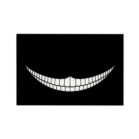 Cheshire Grin Rectangle Magnet