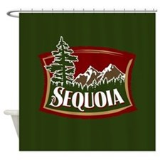 Sequoia Mountain Tree Logo.png Shower Curtain