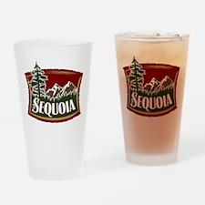 Sequoia Mountain Scene Drinking Glass