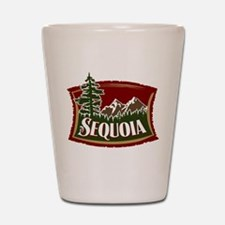 Sequoia Mountain Scene Shot Glass
