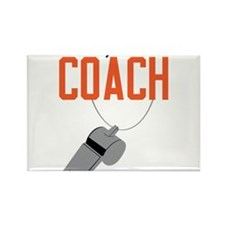 Daddy's Little Coach Rectangle Magnet