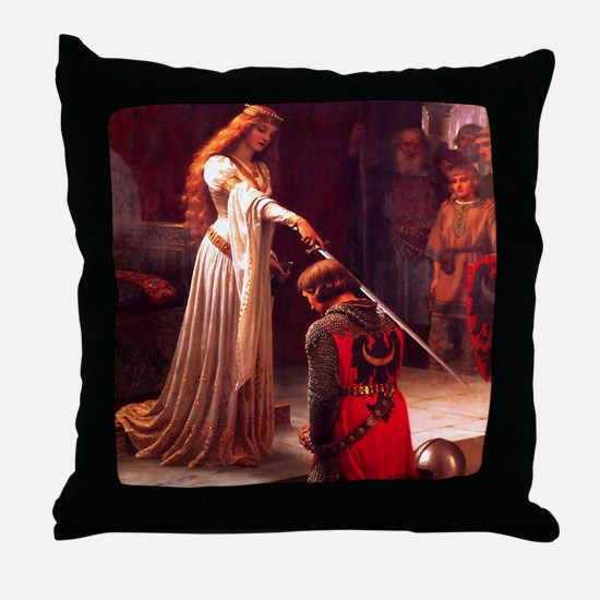 Knighting the Knight Throw Pillow