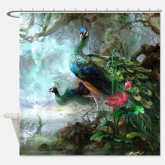 Beautiful Peacock Painting Shower Curtain