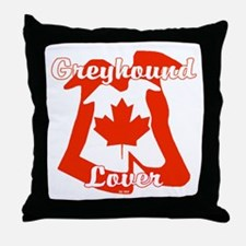 CANADIAN GREYHOUND LOVER Throw Pillow