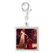 Knighting the Knight Silver Square Charm