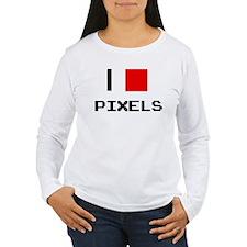 I love pixels Long Sleeve T-Shirt