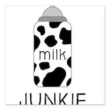 "Milk Junkie Square Car Magnet 3"" x 3"""