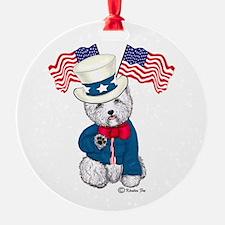 Yankee Doodle Westie Ornament