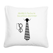 Daddy's Future Business Partner Square Canvas Pill