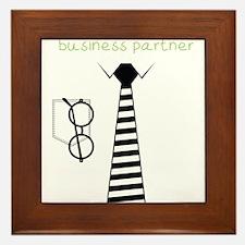 Daddy's Future Business Partner Framed Tile