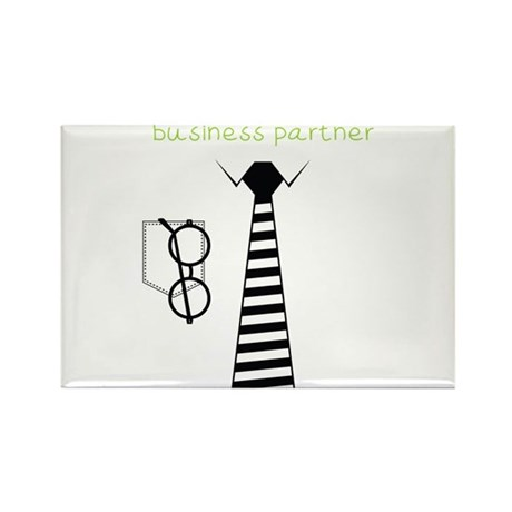 Daddy's Future Business Partner Rectangle Magnet