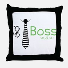 Boss Man Throw Pillow