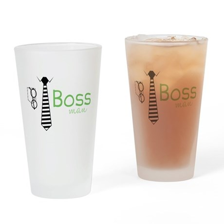 Boss Man Drinking Glass