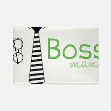 Boss Man Rectangle Magnet