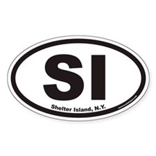 Shelter Island SI Euro Oval Decal