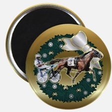 Harness Racer Gold Xmas Magnet