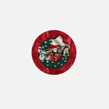 Harness Racer Red Xmas Mini Button