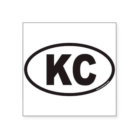Kansas City KC Euro Oval Sticker
