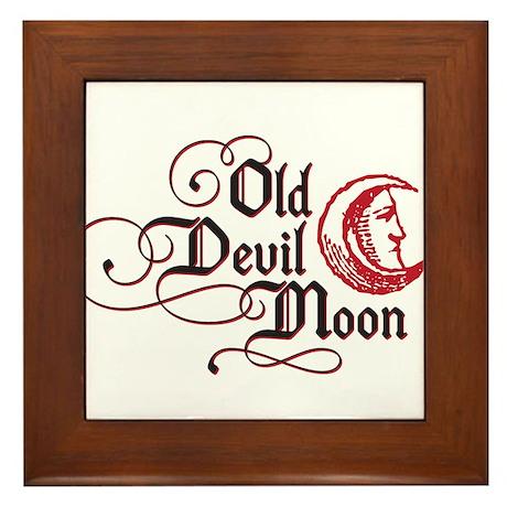 Old Devil Moon Framed Tile