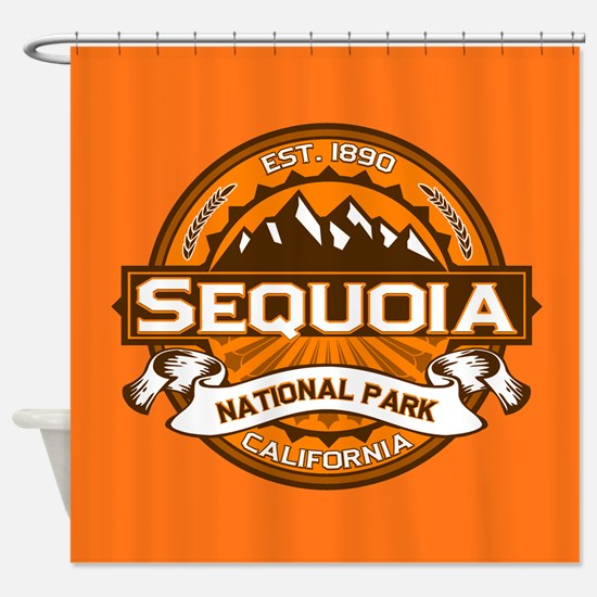 Sequoia Pumpkin Shower Curtain