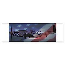 P-51 Mustang Bumper Bumper Sticker