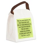 Leave Me Alone (Funny Zen) Canvas Lunch Bag