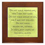 Leave Me Alone (Funny Zen) Framed Tile