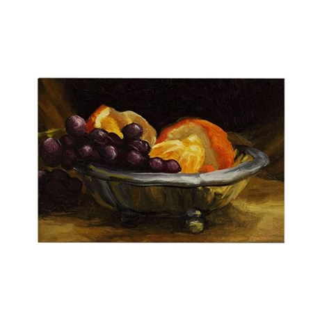 Orange and Grapes 130211 Rectangle Magnet