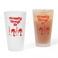 Strumming through life Drinking Glass