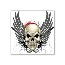 Skull, guitars, and wings Sticker