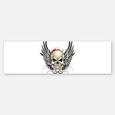 Skull, guitars, and wings Bumper Bumper Bumper Sticker