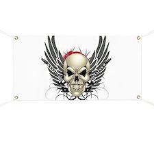 Skull, guitars, and wings Banner