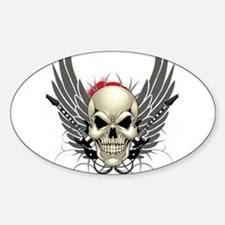 Skull, guitars, and wings Decal
