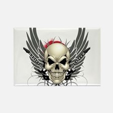 Skull, guitars, and wings Rectangle Magnet