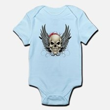 Skull, guitars, and wings Body Suit