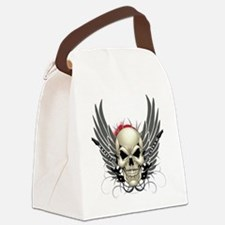 Skull, guitars, and wings Canvas Lunch Bag