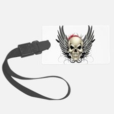 Skull, guitars, and wings Luggage Tag