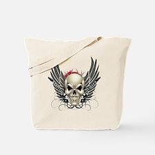 Skull, guitars, and wings Tote Bag